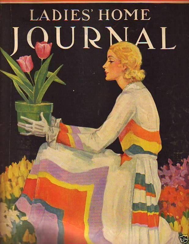 Lovely Gardener! Vintage Magazine Cover
