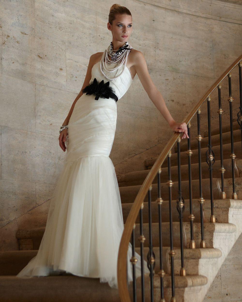 Ecru wedding dress  White House Black Market Womens Ecru The Victoria Bridal Gown by