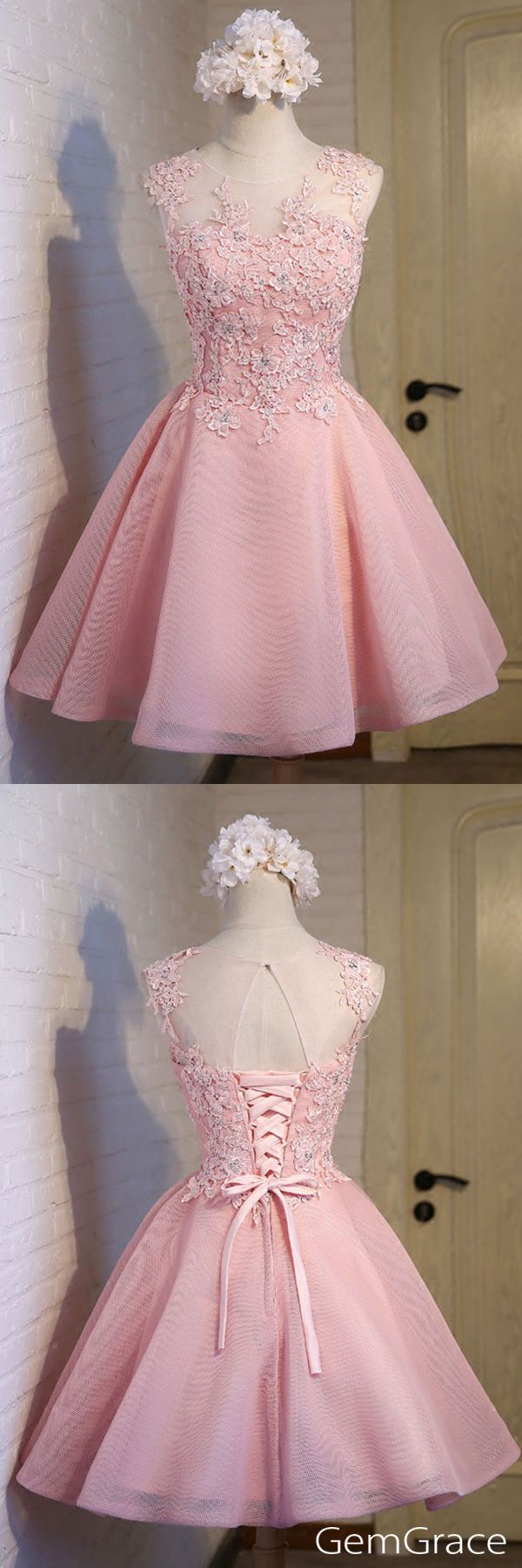 Peach pink homecoming dresses short tulle beautiful style with