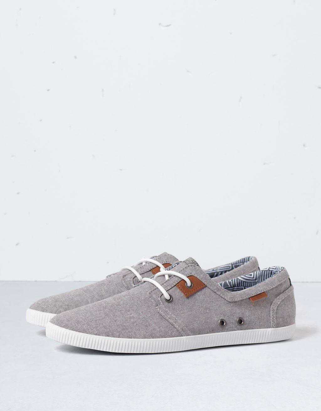 chaussures casual tissu - chaussures - bershka france | vêtements