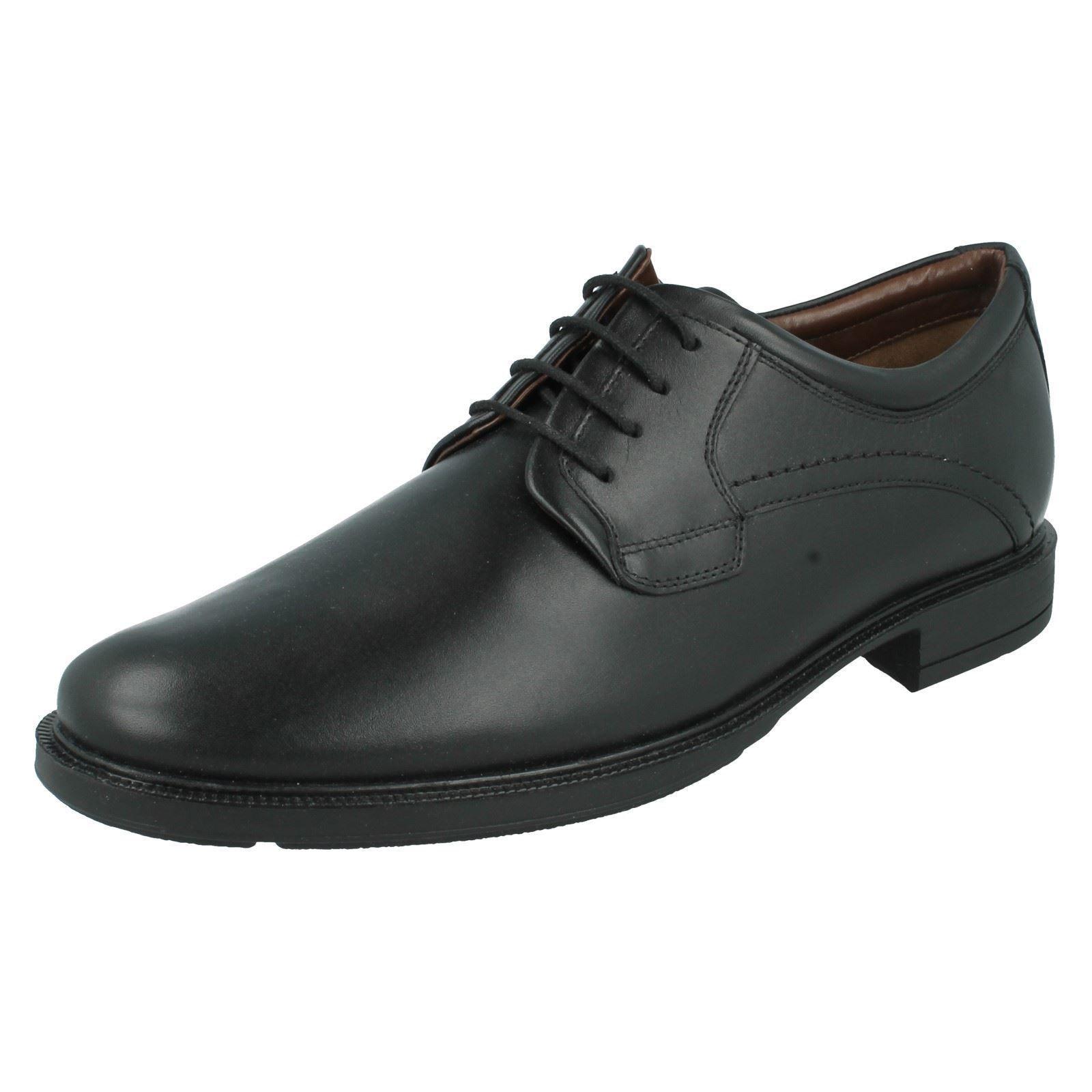 Hush puppies black lace up leather shoe style michigan 3