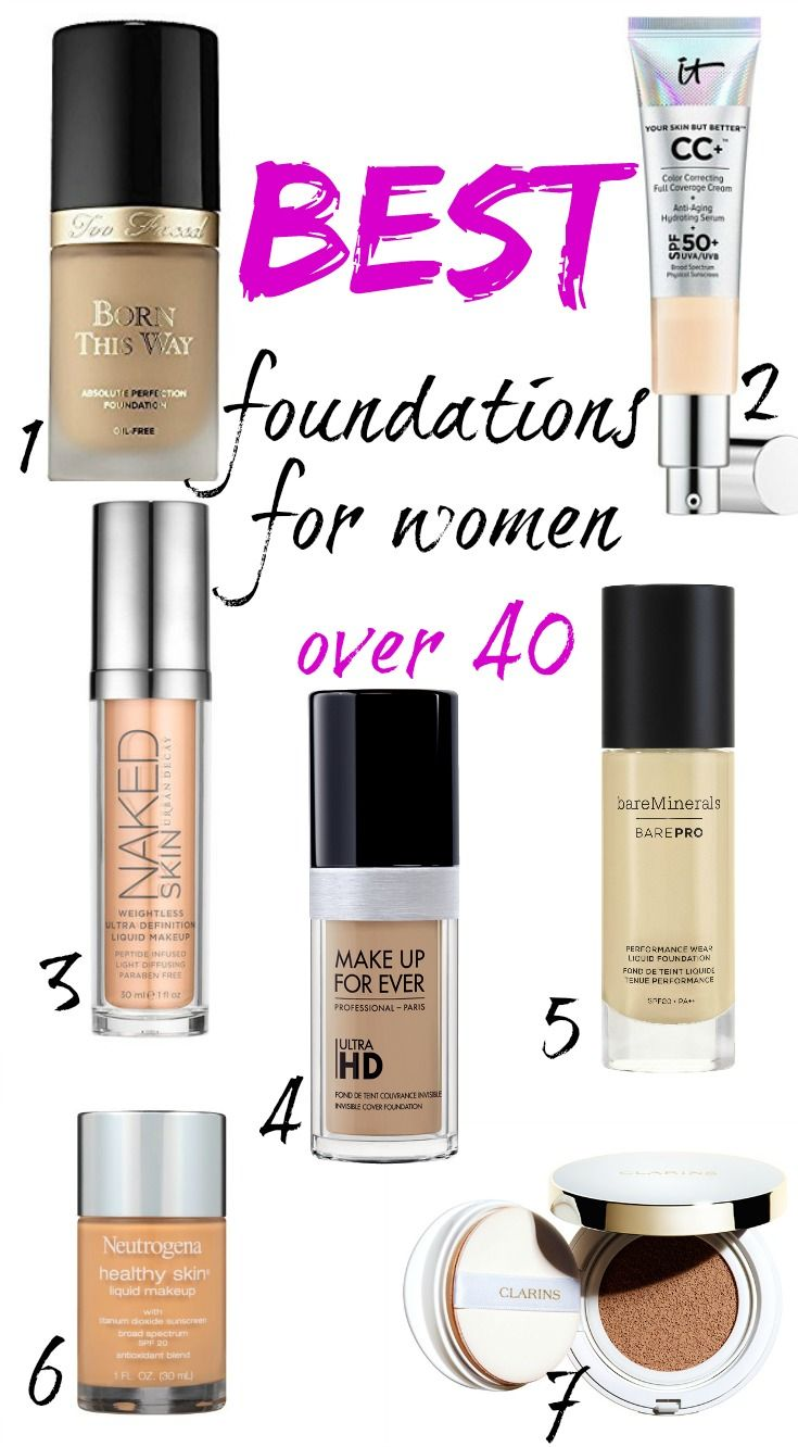 BEST FOUNDATIONS FOR WOMEN OVER 40!