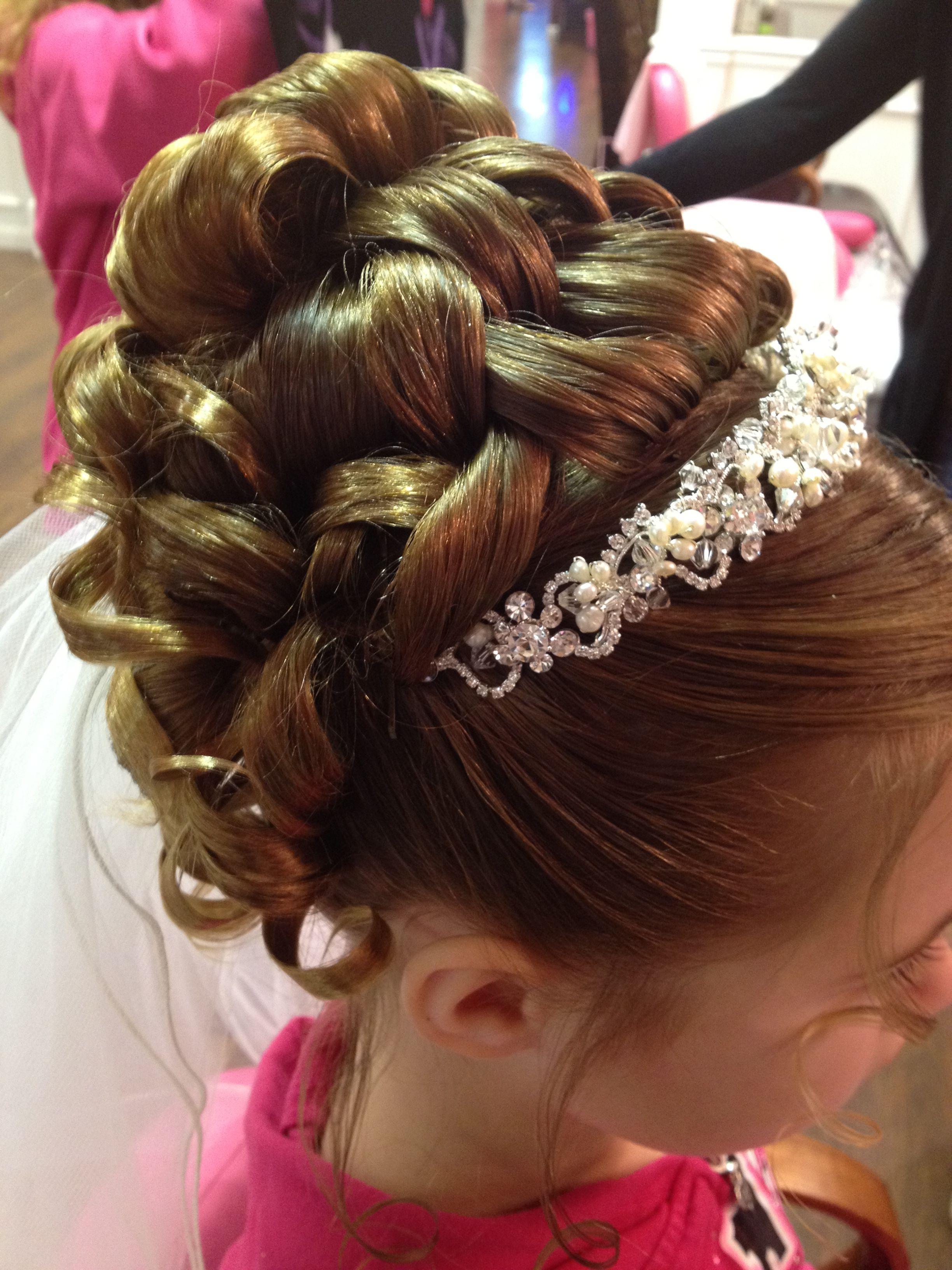 Communion Updo By Karen Updo Communionhair Peinados