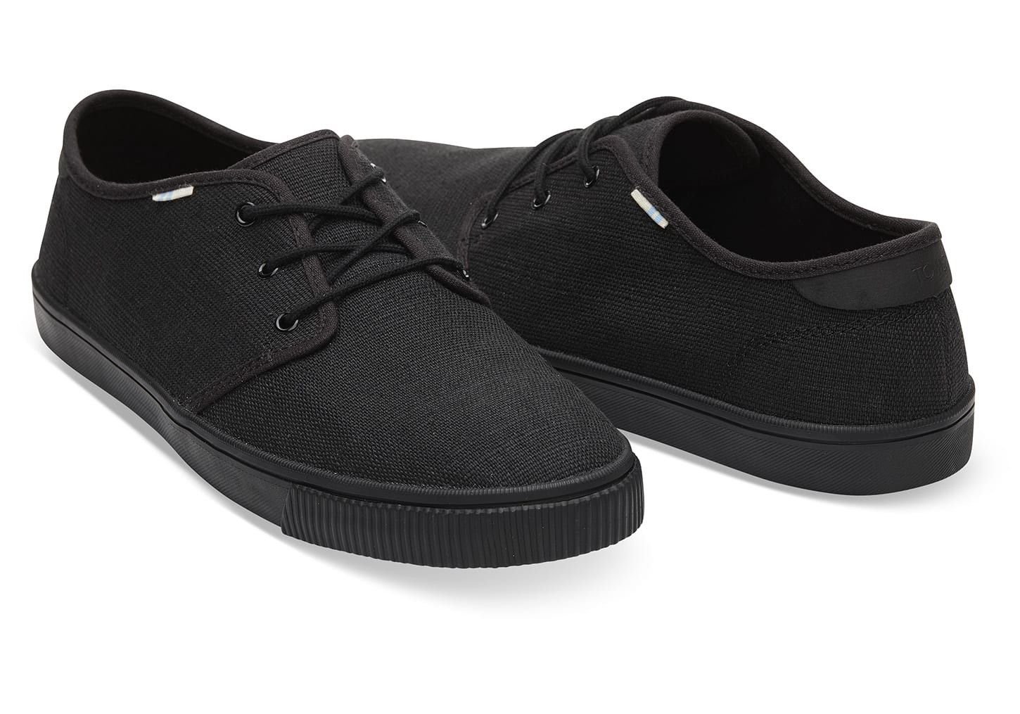 011bcfe7d76b3 Toms Black On Heritage Canvas Men's Carlo Sneaker Shoes - 9.5 ...