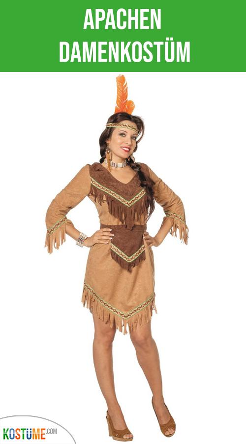 Indianer Squaw Indianerin wildlederoptik Damen Herren  Kostüm NEU