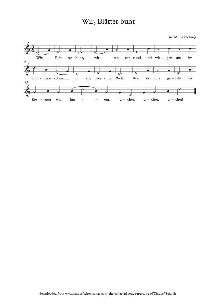 Shake shake the apple tree | Waldorf School Songs