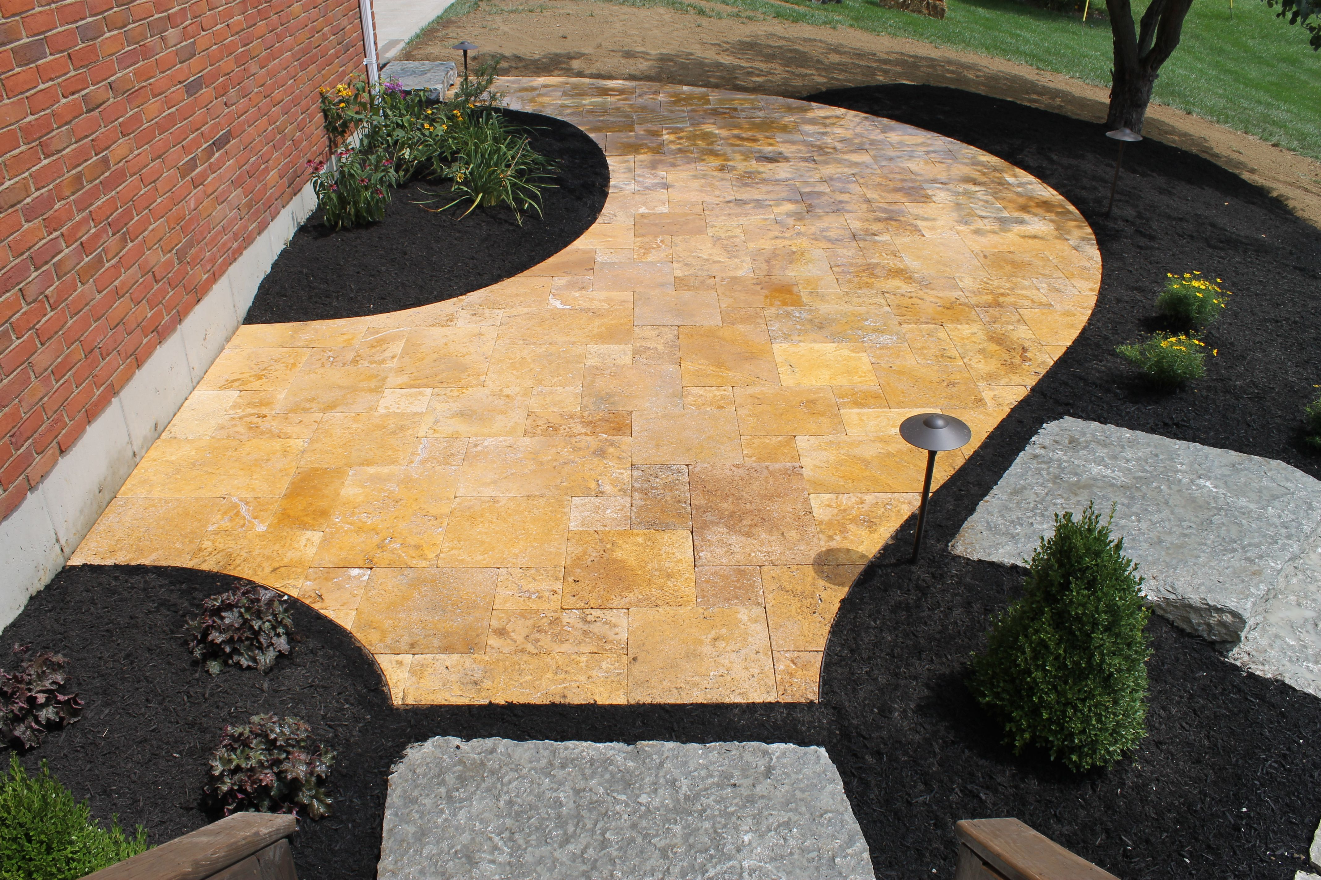 Gold Travertine Patio (With images) | Patio stones ... on Travertine Patio Ideas id=34790