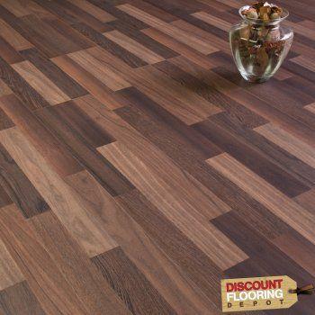 Sydney Walnut 3 Strip Laminate Flooring 7mm Flat Ac3 248m2 From