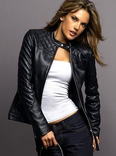 Black Leather Jackets Ladies Photo Album - Reikian