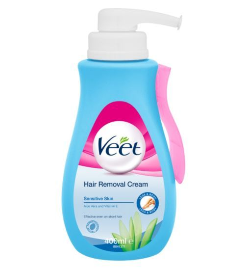 Veet Hair Removal Cream With Aloe Vera And Vitamin E For Sensitive