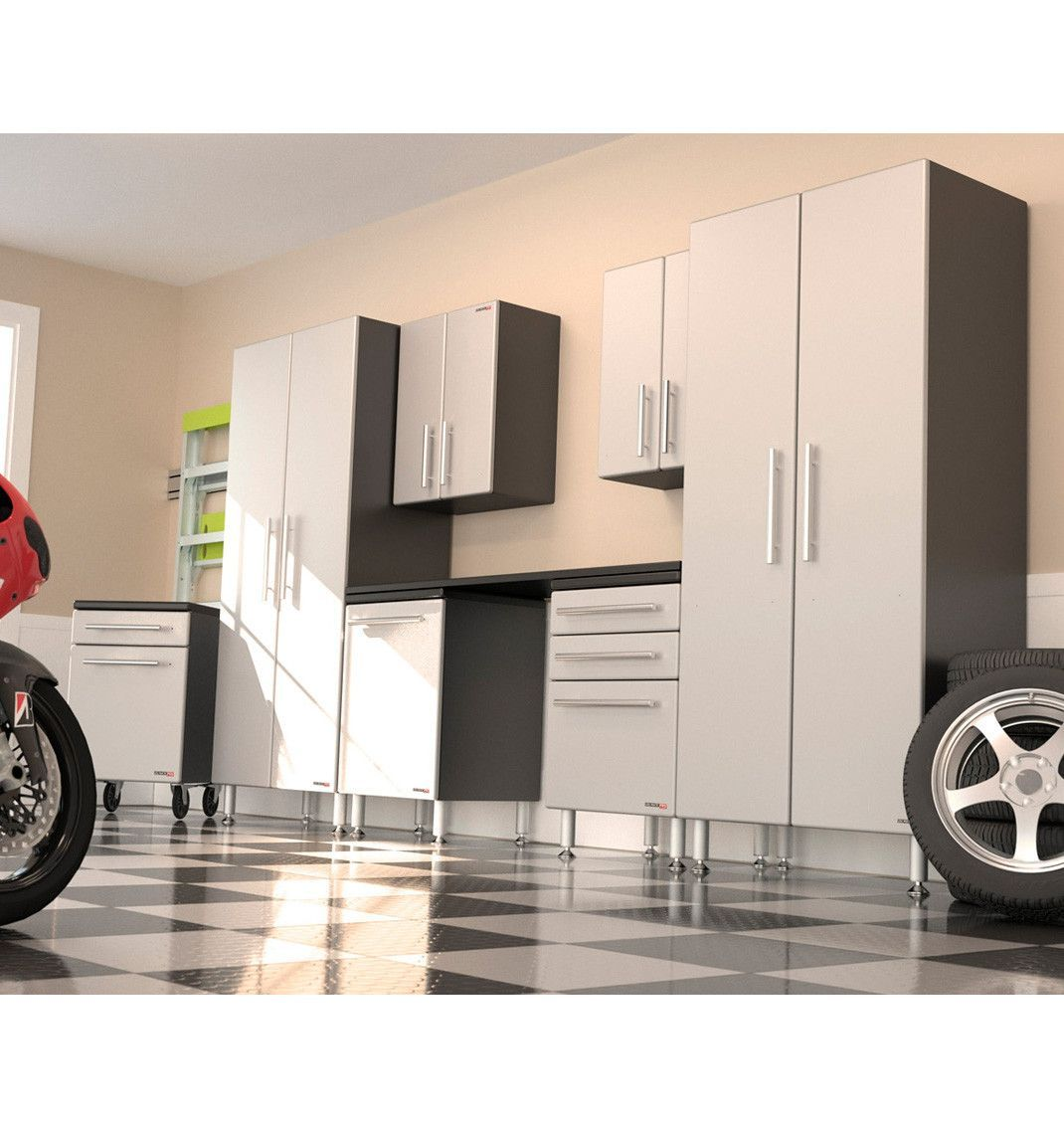 Ulti Mate Garage Pro 8 Piece Deluxe Cabinet Kit Garage