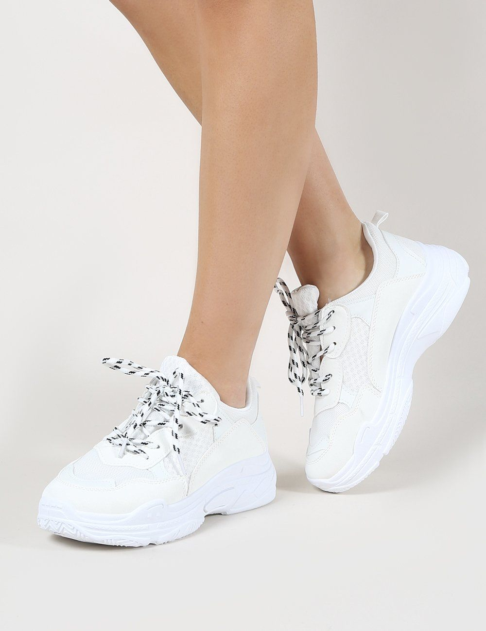 Fiyah Chunky Trainer White   Sneakers