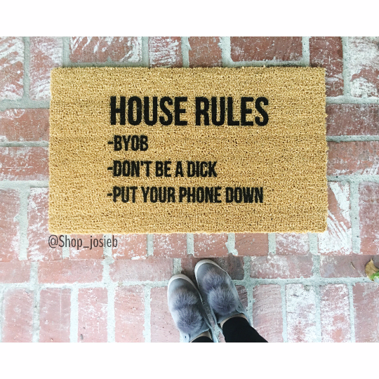 House Rules Doormat Door Mat House Rules Front Door Mats