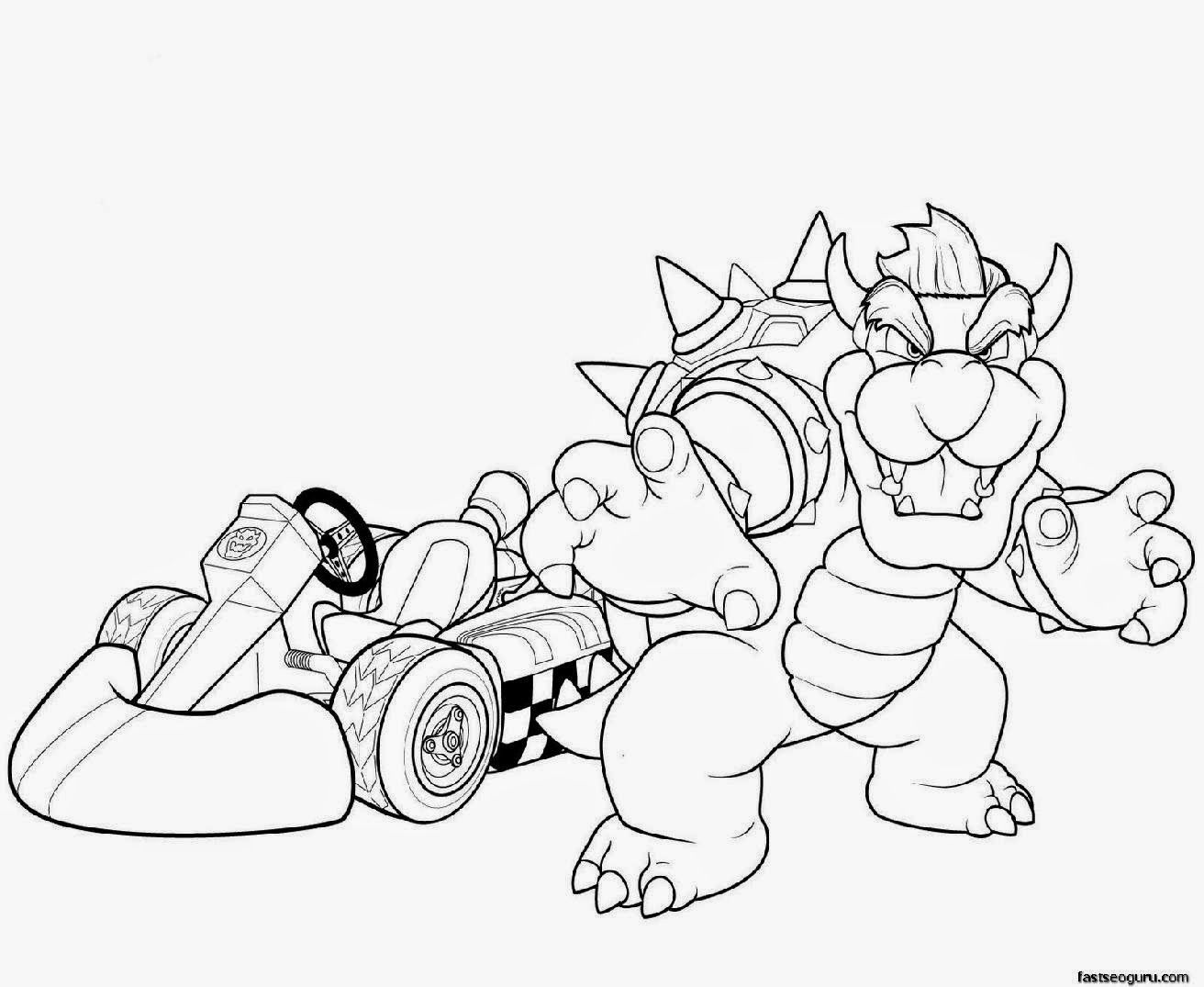 homepage cartoon printable super mario and bowser coloring pages