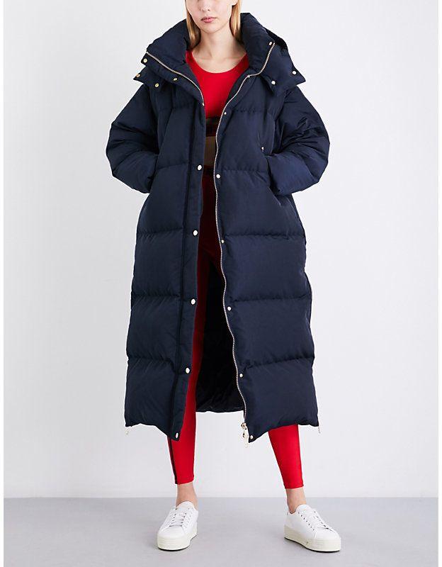 d293e3364 Tommy Hilfiger x Gigi Hadid oversized padded hooded shell coat | The ...