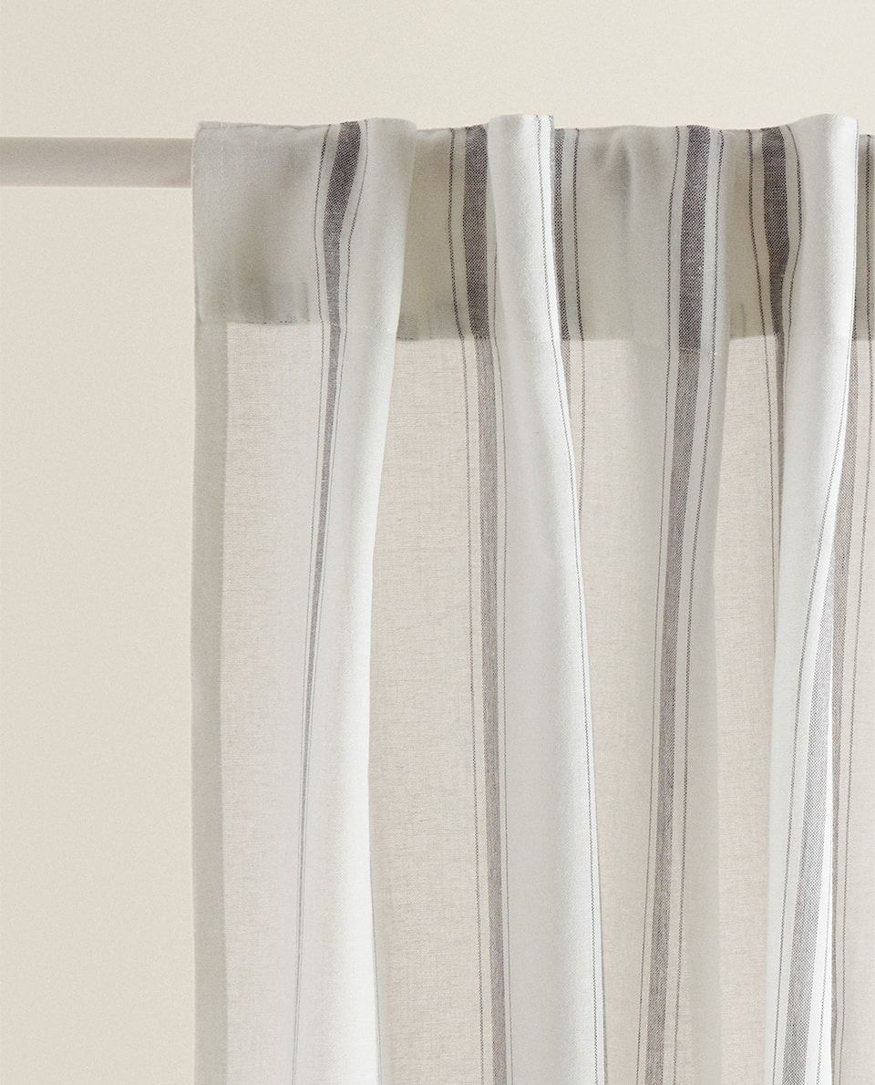 Striped Cotton Curtain Collection New In Zara Home United