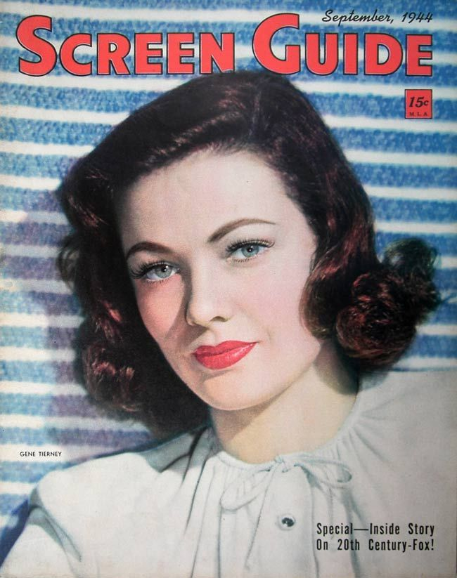 Screen Guide 1944 09 1940s Makeup Vintage Makeup Retro Makeup