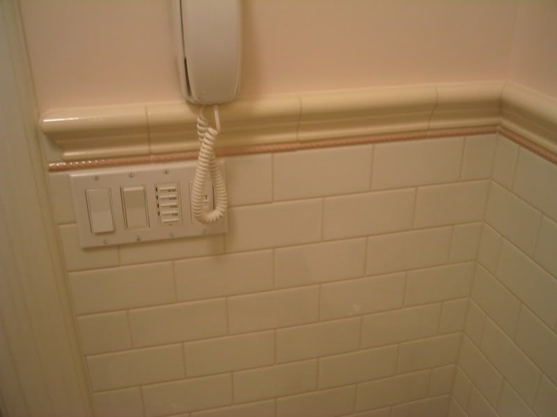 Chair Rail Tile Inside Corner Bathroom Pinterest