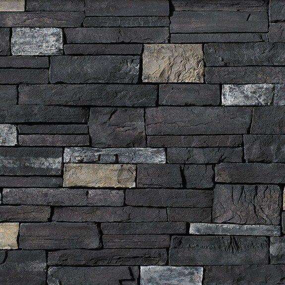 Cs cl black rundle country ledgestone cultured stone for Exterior ledgestone