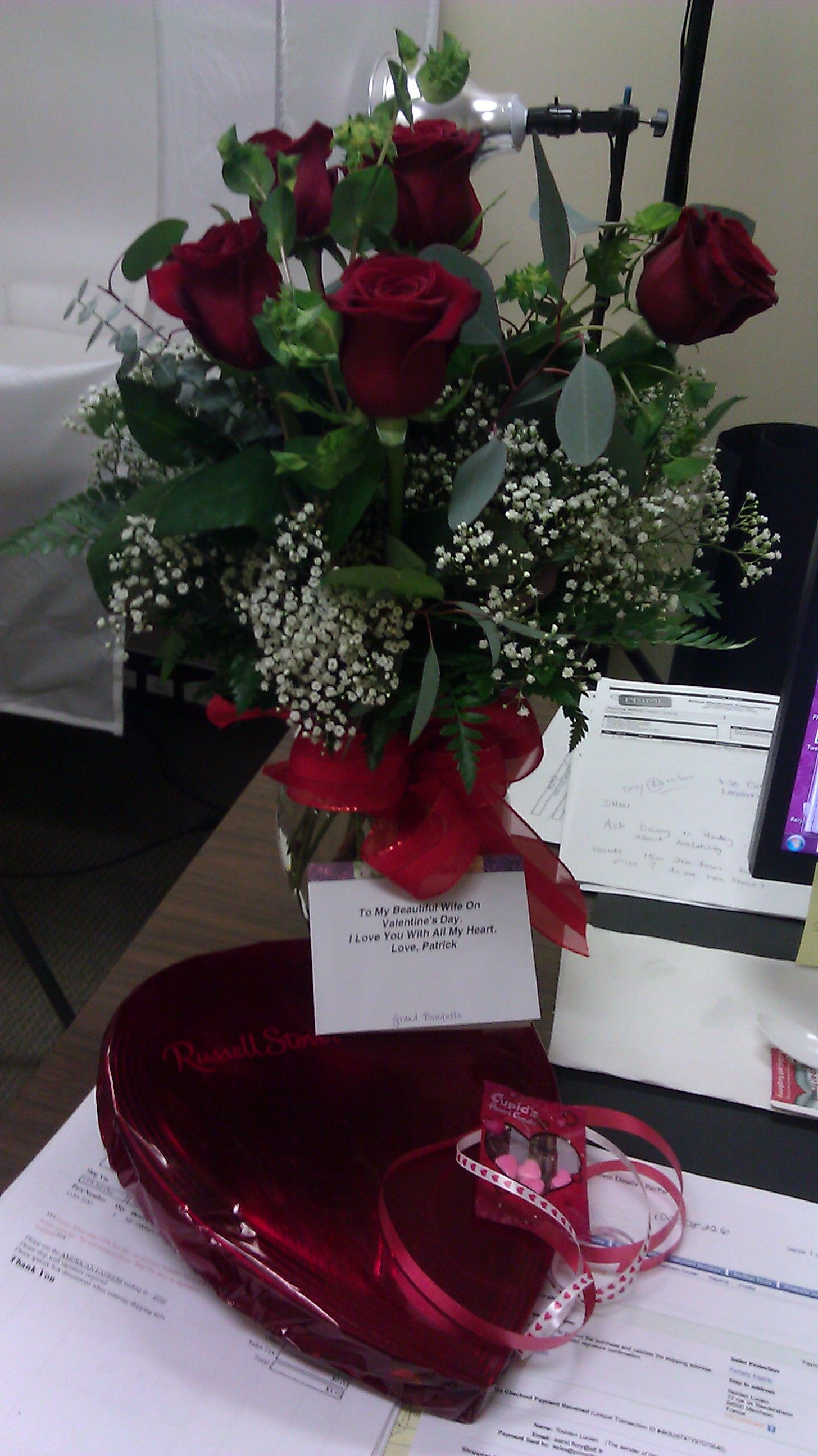 Valentines Day Flowers And Chocolates From My Hubby Patrick