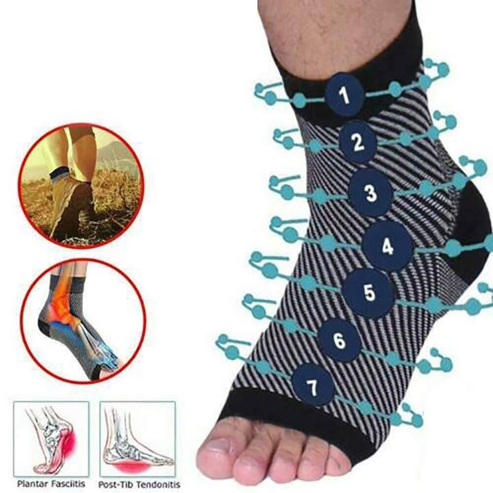 Copper infused foot support compression socks