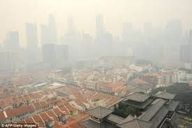 This image is depicting the haze lev l in Singapore.
