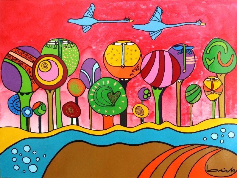 Saricole Murales Inspirados En Los Cuadros De Romero Brito: Pintura Verano 2018