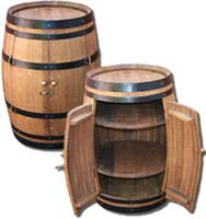 Wine Barrel Cabinet, Bar Stools Each From B Cubed Barrels, South Africa