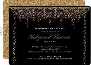 old hollywood glam prom invitation jack s 13th pinterest