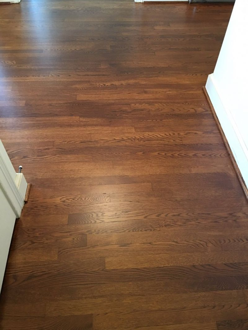 Sheaves Floors Llc Sanded And Stained These White Oak With General Finishes Pro Floor Stain In Antique Brown Image Flat