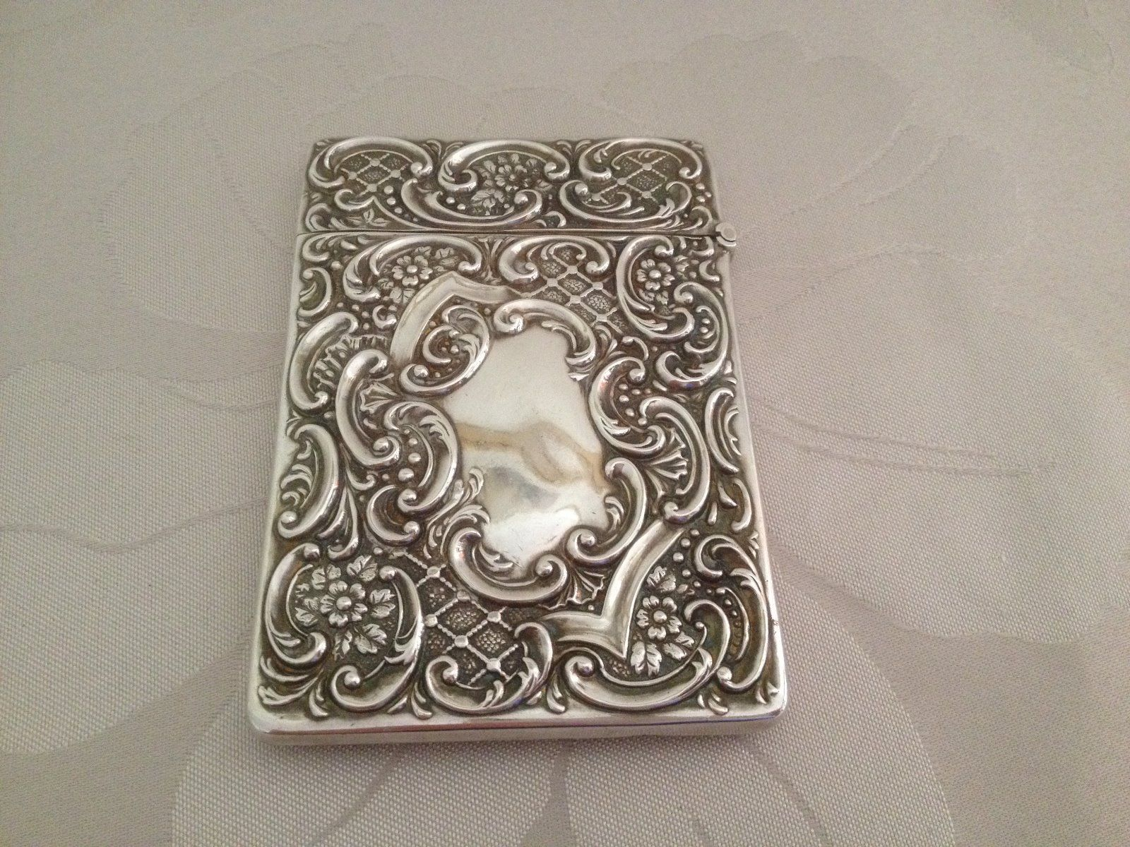 Antique Boxed Sterling Silver Calling Card Card Case - Birmingham ...