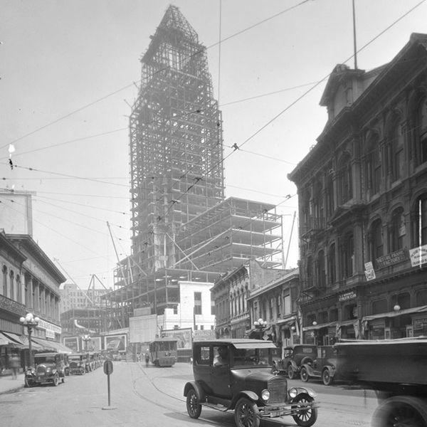 Los Angeles City Hall (once the tallest building in L.A.), Construction, Architect John Parkinson. Parkinson and son also designed Union Station and several other iconic structures in Los Angeles, CA
