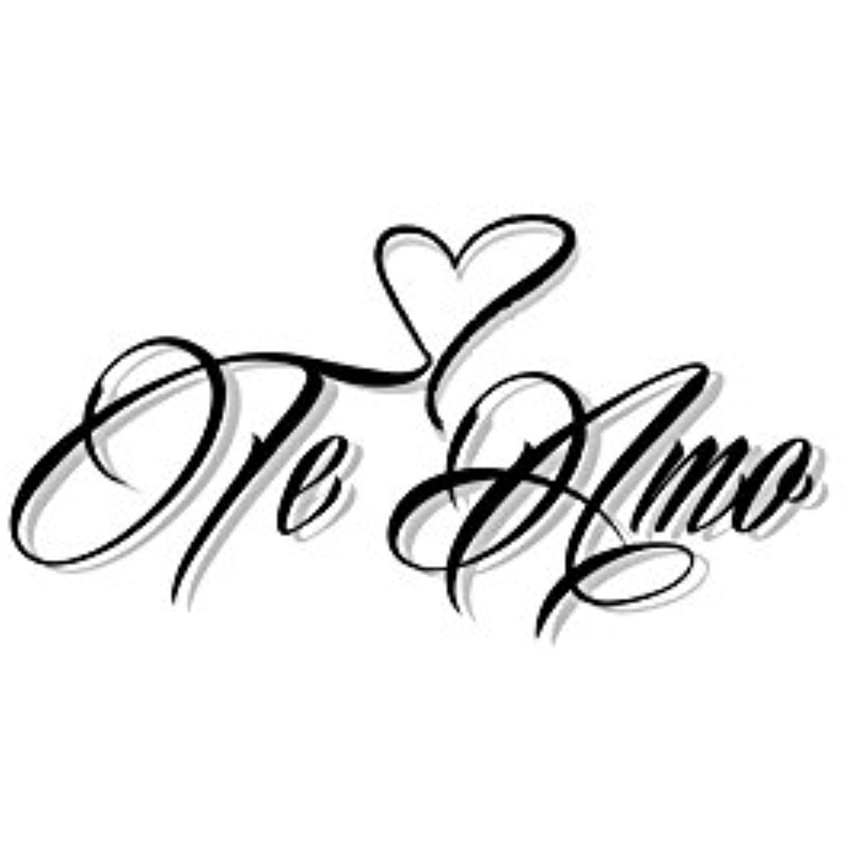 Te Amo Spanish Temporary Tattoo, Translated I Love You - Set of 2 ...