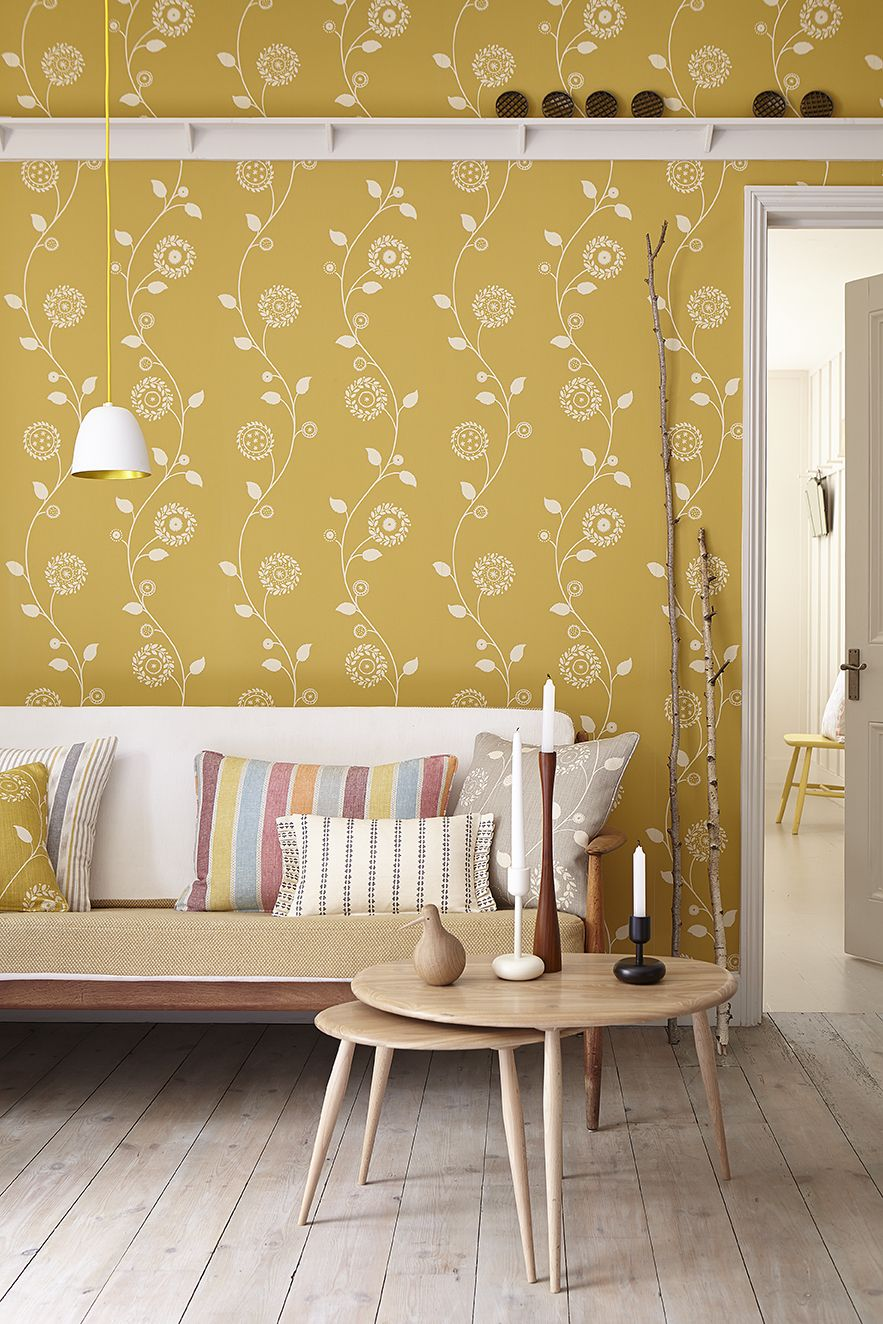 Gypsy Garland Wall Covering in Saffron | Wallpaper & Wall Coverings ...