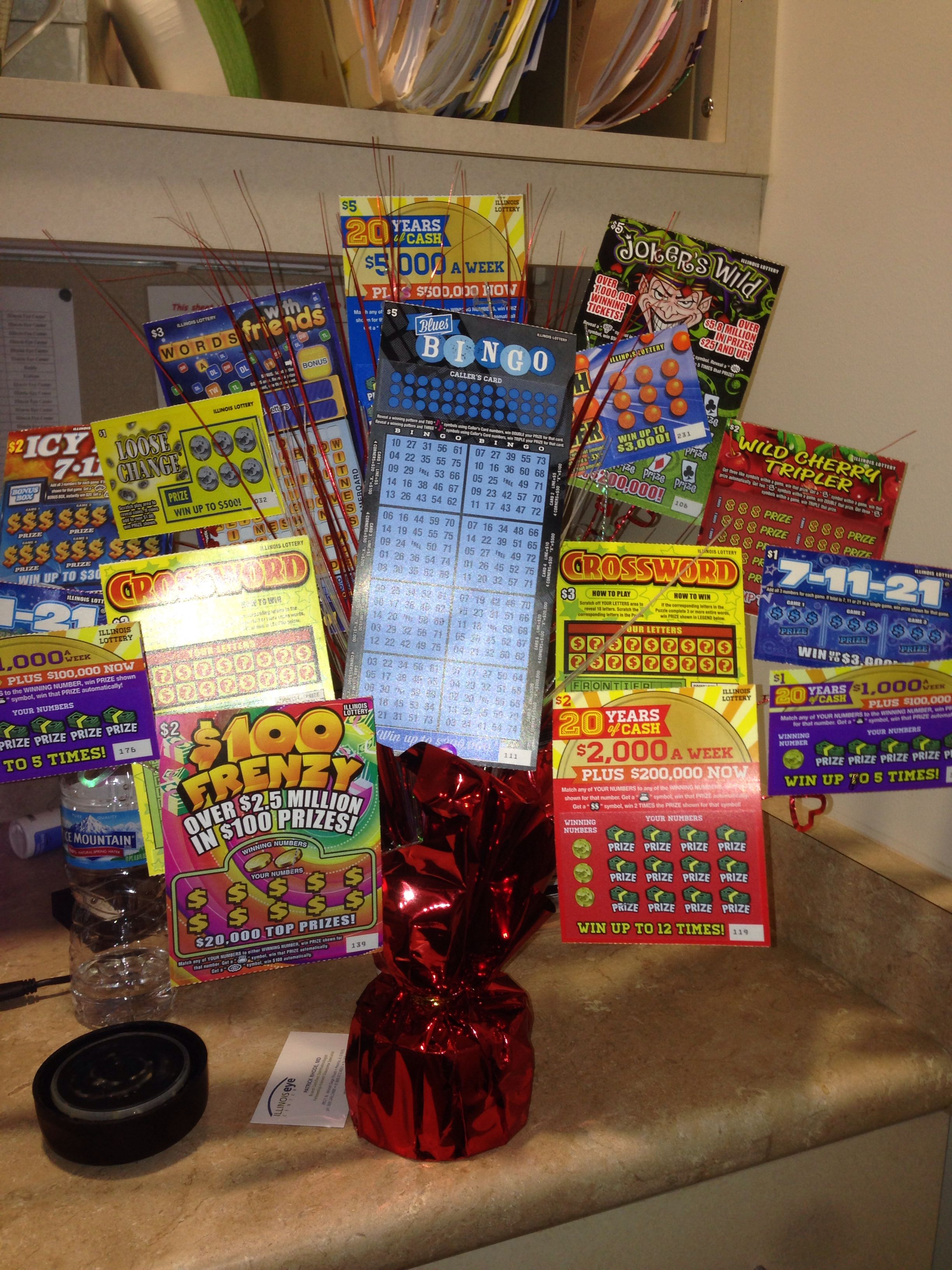 Lottery ticket bouquet for Valentine s Day Crafty