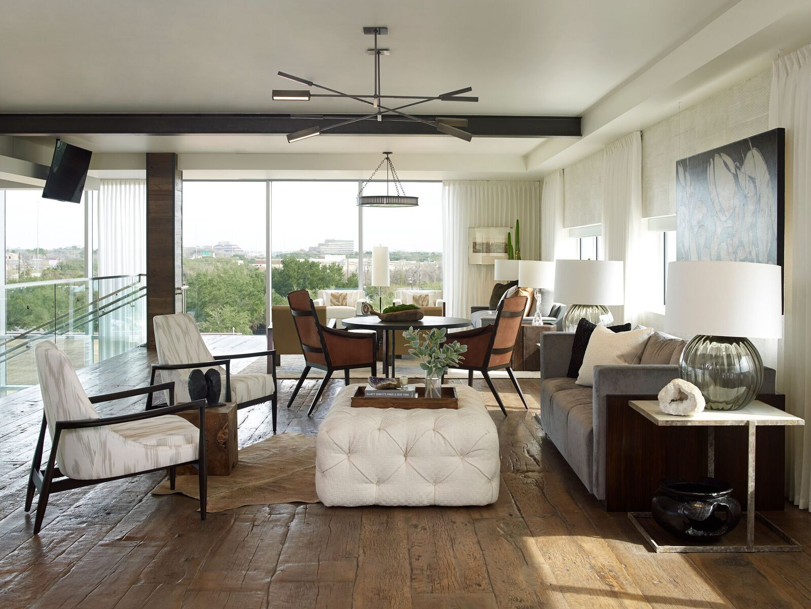 Marie flanigan interiors mastering modern rustic style balance masculine lines with feminine accents