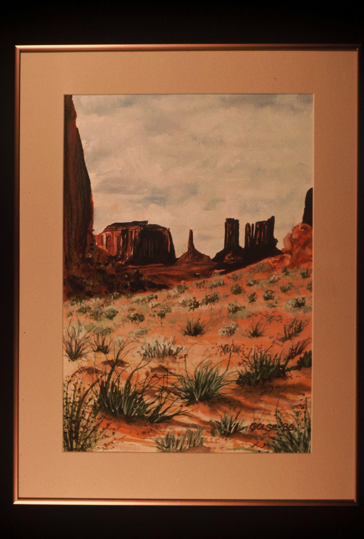 Arizona Desert. 1986. Artist: Steve Golse.
