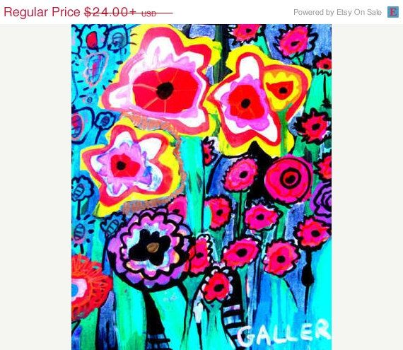 Surprise 50 off sale flower art red poppies flowers folk art surprise 50 off sale flower art red poppies flowers folk art poster of painting mightylinksfo Gallery