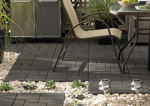 Rubber Tiles Made From Recycled Ontario Tires Are Great For Use On Patios Decks