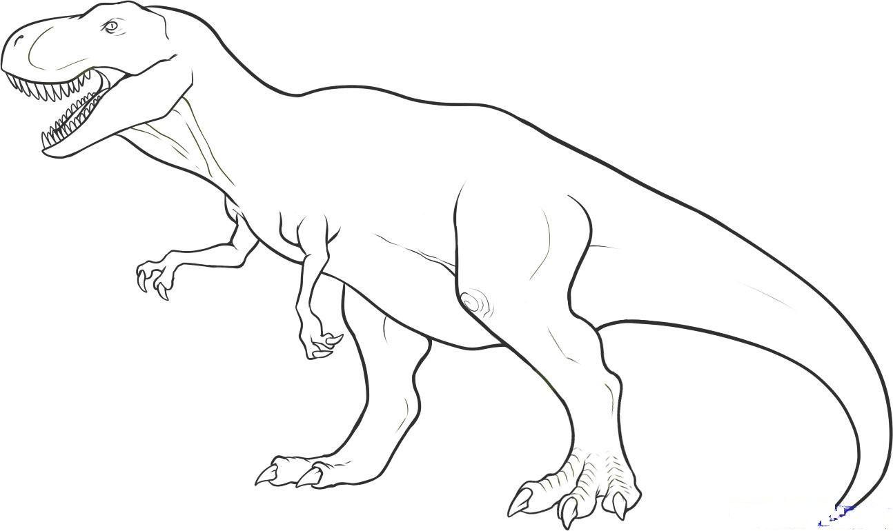 Динозавр карандашом. Рисование поэтапно для детей: рисуем ...