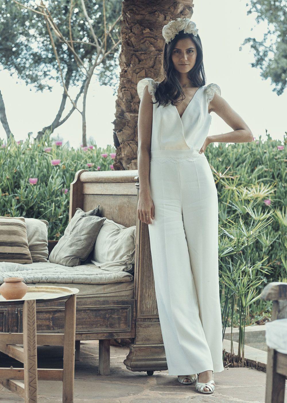 Bridal Jumpsuit Beck  french chic  Traditionelle brautkleider