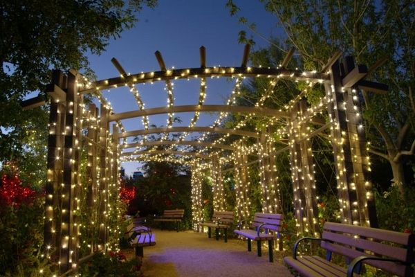 led garden lighting pergola fairy lights solar string lights decor
