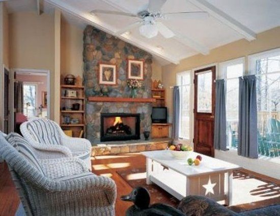 Image result for lake house fireplace Lakehouse Decorating