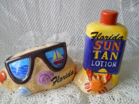 Sunglasses and Sun Tan Lotion Salt and Pepper by DEWshophere, $14.99