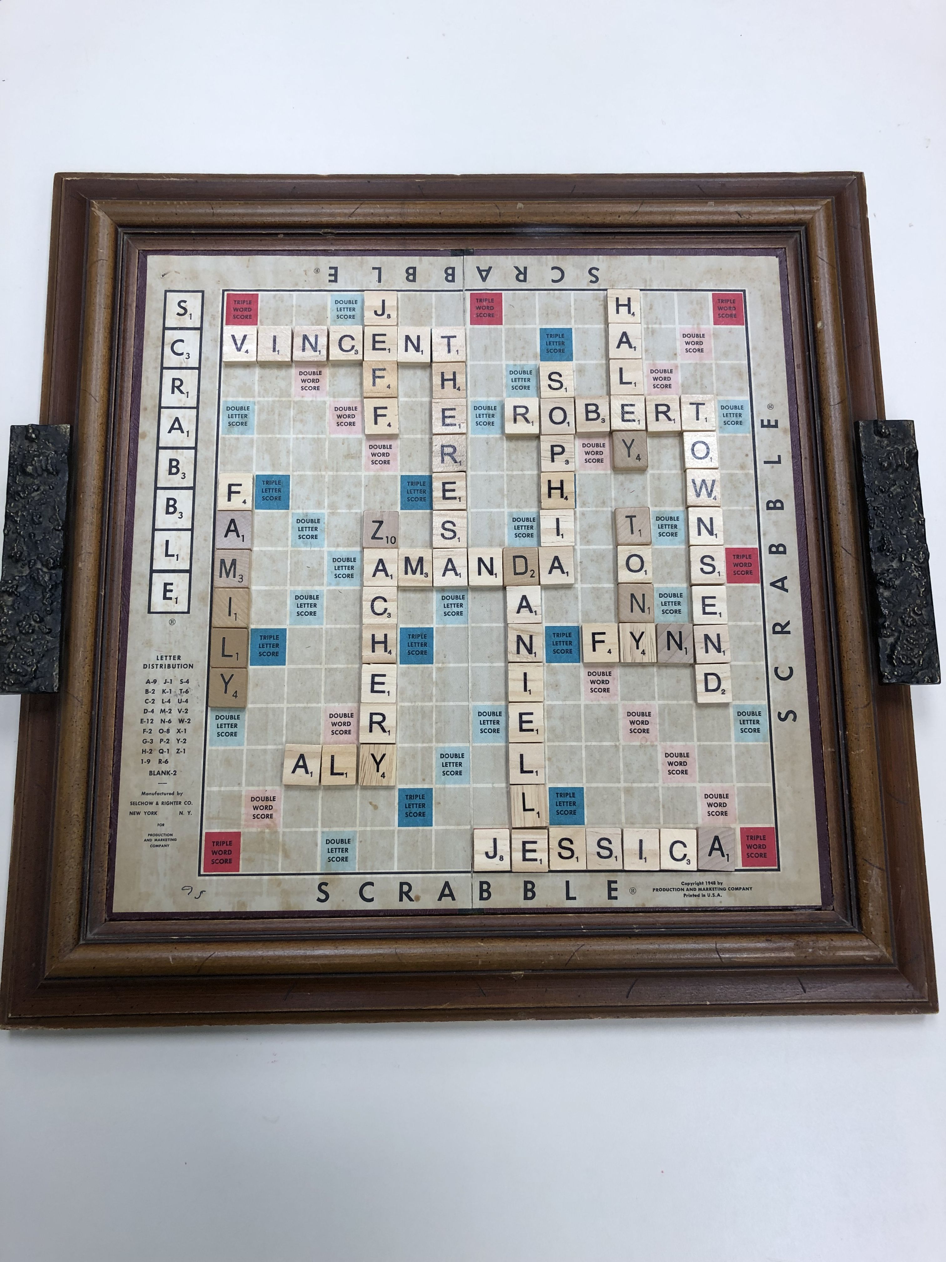 Family Scrabble Board Scrabble Board Scrabble Crafts