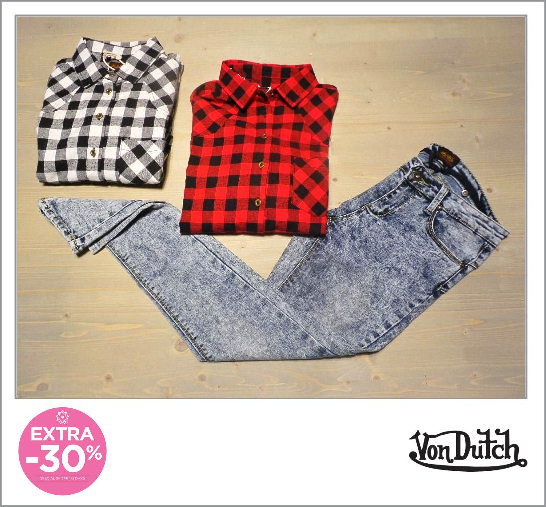 #SPECIAL #SHOPPINGDAYS! 17.09 // 20.09 #Shirt / #Camicia - #VonDutch  #Original price: 62€ #Outlet #price: 39.90€ #Special price: 27.93€ #Jeggins / Jeggins  Original price: 62€ Outlet price: 39.90€ Special price: 27.93€ #Available at #Hangar18 - store number 13 Disponibile presso Hangar18 - civico 13 http://www.palmanovaoutlet.it/it/outlet/negozi/hangar-eighteen