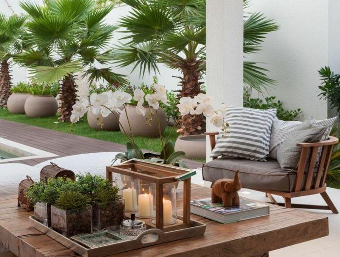 idee-amenagement-jardin-meubles-de-jardin-en-bois-foncé-pour-le ...