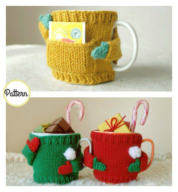 Mug Cozy Sweater Knitting Pattern | Quiero, Tejido y Coser