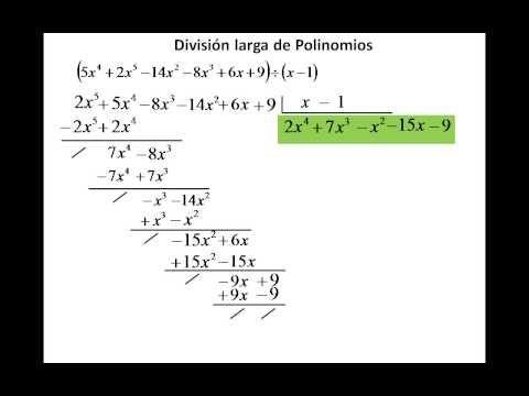 Division entre polinomios - YouTube | Matemáticas | Pinterest ...