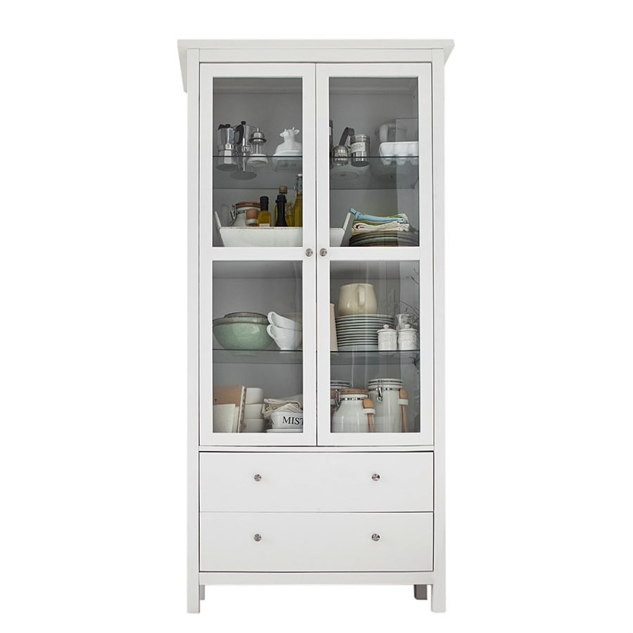 Armoire Vitrine Lindbom I Pin Partiellement Massif Armoire Vitrine Armoire Vitrine Ikea